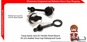 Jack DC Female Panel Mount Rubber Dust Cap Cover