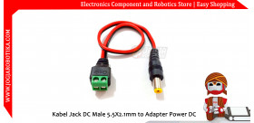 Kabel Jack DC Male 5.5X2.1mm to Adapter Power DC