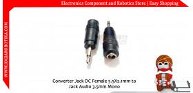 Converter Jack DC Female 5.5X2.1mm to Jack Audio 3.5mm Mono