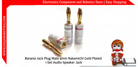 Banana Jack Plug Male 4mm Nakamichi Gold Plated 1 Set Audio Speaker Jack