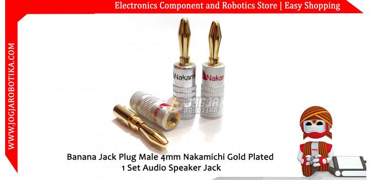 Banana Jack Plug Male 4mm Nakamichi Gold Plated 1 Set Audio Speaker Jack