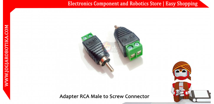 Adapter RCA Female Audio to Screw Connector