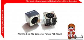 Mini Din 8 pin PS2 Connector Female PCB Mount