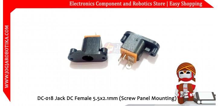 DC-018 Jack DC Female 5.5x2.1mm (Screw Panel Mounting)
