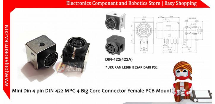 Mini Din 4 pin DIN-422 MPC-4 Big Core Connector Female PCB Mount