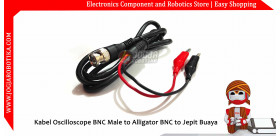 Kabel Oscilloscope BNC Q9 Male to Alligator BNC to Jepit Buaya