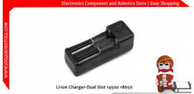 Li-ion Charger-Dual Slot 14500 18650