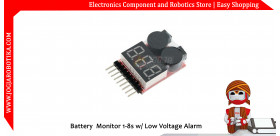 Battery Monitor 1-8s w/ Low Voltage Alarm