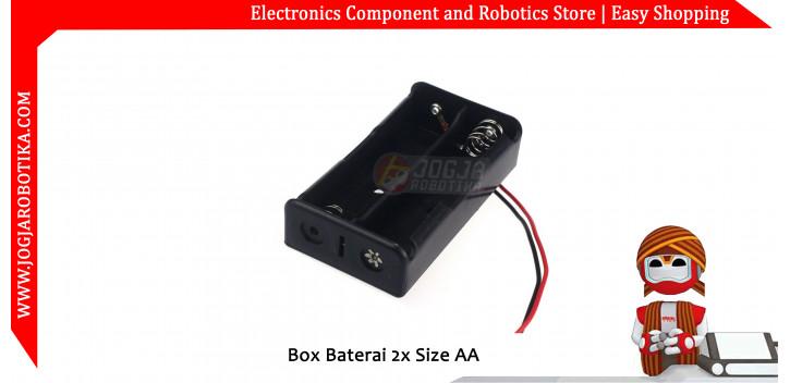 Box Baterai 2x Size AA