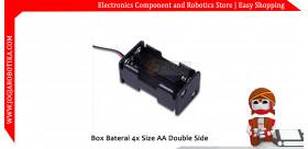 Box Baterai 4x Size AA Double Side