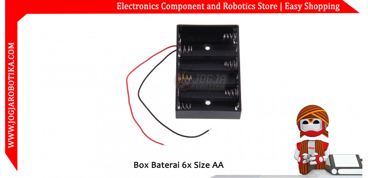 Box Baterai 6x Size AA
