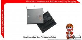 Box Baterai 4x Size AA dengan Tutup