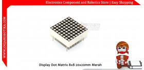 Display Dot Matrix 8x8 20x20mm Merah