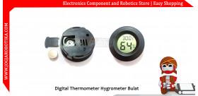 Digital Thermometer Hygrometer Bulat
