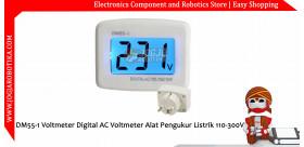 DM55-1 Voltmeter Digital AC Voltmeter Alat Pengukur Listrik 110-300V