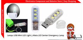 Lampu USB Mini LED Light 3 Mata LED Senter Emergency Lamp