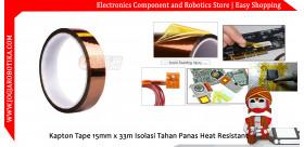 Kapton Tape 15mm Isolasi Tahan Panas Heat Resistant