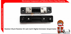 FL-2 Resistor Shunt Resistor DC 50A 75mV Digital Ammeter Ampermeter