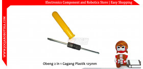 Obeng 2 in 1 Gagang Plastik 125mm