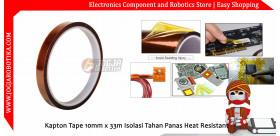 Kapton Tape 10mm Isolasi Tahan Panas Heat Resistant