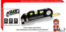 FIXIT LASER LEVELPRO 3 Laser Waterpass Level Measure dan Meteran