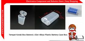 Tempat Kotak Box Baterai 2 Slot 18650 Plastic Battery Case Box