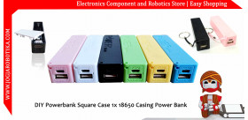 DIY Powerbank Square Case 1x 18650 Casing Power Bank