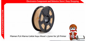 Filamen PLA Warna Coklat Kayu Wood 1.75mm for 3D Printer