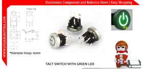 Tact Switch With Green LED