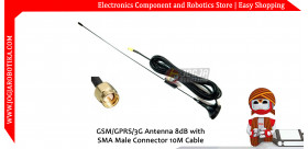 GSM/GPRS/3G Antenna 8dB with SMA Male Connector 10M Cable