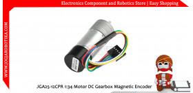 JGA25-12CPR 1:34 Motor DC Gearbox Magnetic Encoder