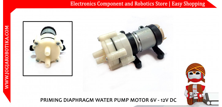PRIMING DIAPHRAGM WATER PUMP MOTOR 6V - 12V DC