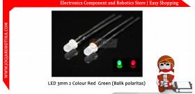 LED 3mm 2 Colour Red Green (Balik polaritas)