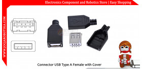 Connector USB Type A Female with Cover