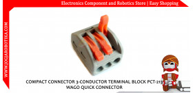 COMPACT CONNECTOR 3-CONDUCTOR TERMINAL BLOCK PCT-213 WAGO QUICK CONNECTOR