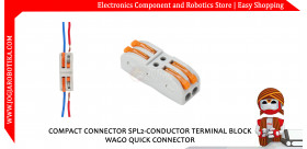 COMPACT CONNECTOR SPL2-CONDUCTOR TERMINAL BLOCK WAGO QUICK CONNECTOR