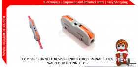 COMPACT CONNECTOR SPL-1 CONDUCTOR TERMINAL BLOCK WAGO QUICK CONNECTOR