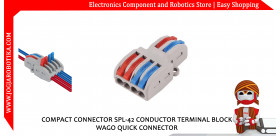 COMPACT CONNECTOR SPL-42 CONDUCTOR TERMINAL BLOCK WAGO QUICK CONNECTOR