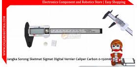 Jangka Sorong Sketmat Sigmat Digital Vernier Caliper Carbon 0-150mm