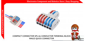 COMPACT CONNECTOR SPL-62 CONDUCTOR TERMINAL BLOCK WAGO QUICK CONNECTOR