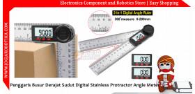 Penggaris Busur Derajat Sudut Digital Stainless Protractor Angle Meter