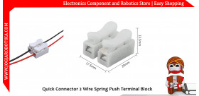 Quick Connector 2 Wire Spring Push & Lock Terminal Block