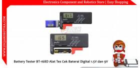 Battery Tester BT-168D Alat Tes Cek Baterai Digital 1.5V dan 9V