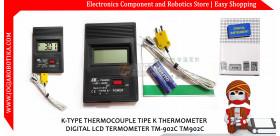 K-TYPE THERMOCOUPLE TIPE K THERMOMETER DIGITAL LCD TERMOMETER TM-902C TM902C