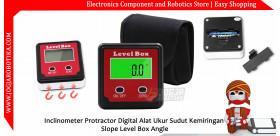 Inclinometer Protractor Digital Alat Ukur Sudut Kemiringan Slope Level Box Angle