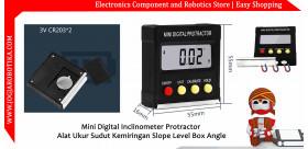 Mini Digital Inclinometer Protractor Alat Ukur Sudut Kemiringan Slope Level Box Angle