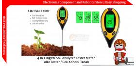 4 In 1 Digital Soil Analyzer Tester Meter Alat Tester / Cek Kondisi Tanah