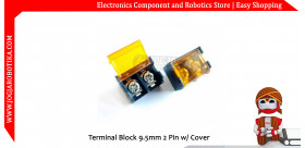 Terminal Block 9.5mm 2 Pin w/ Cover