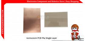 10cmx20cm PCB FR4 Single Layer