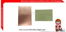 10cm x 20 cm PCB CEM-3 Single Layer